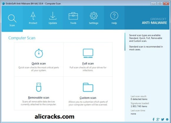 GridinSoft Anti-Malware 3.2.5 Crack Plus License Key Free Download