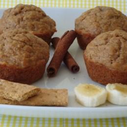 banana graham muffins