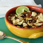 Chunky Tortilla Soup with Black Beans