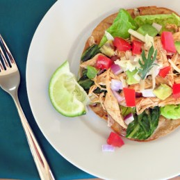 healthy chicken tostada salad