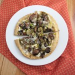 Mushroom and Leek Pita Pizzas