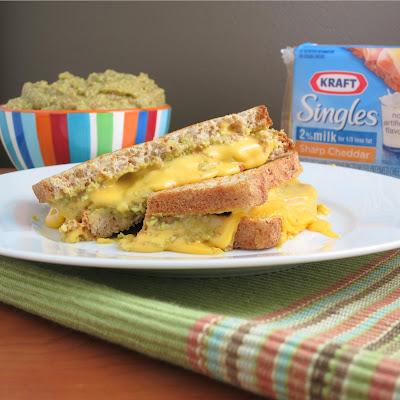 kraft singles guacamole grilled cheese sandwich