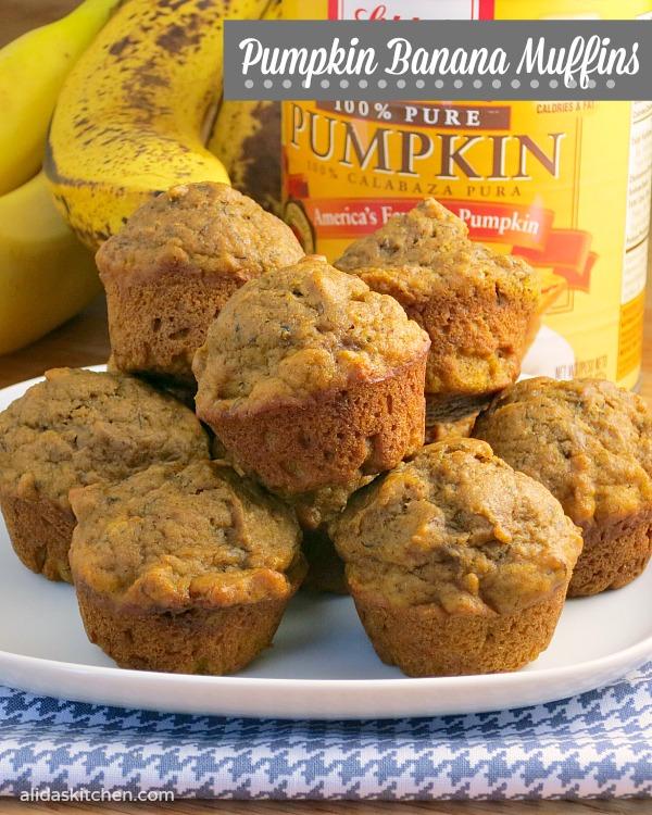 Pumpkin Banana Muffins | alidasktichen.com