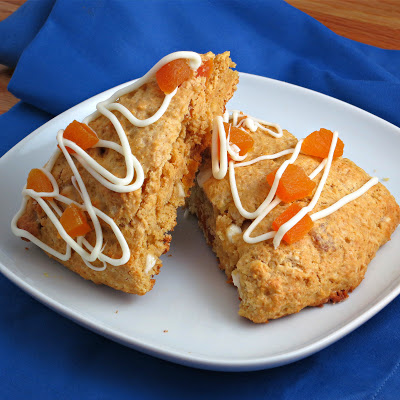 lighter dried apricot white chocolate chip scones