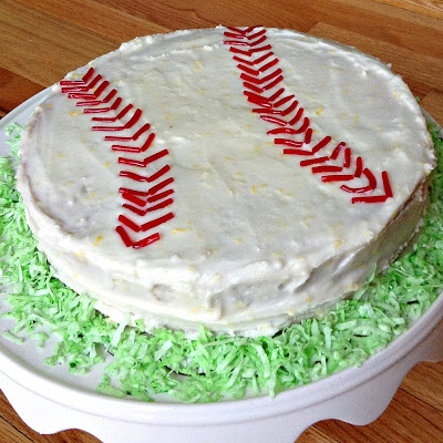 DIY how to make a baseball birthday cake