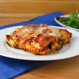 vegetarian spinach ravioli lasagna