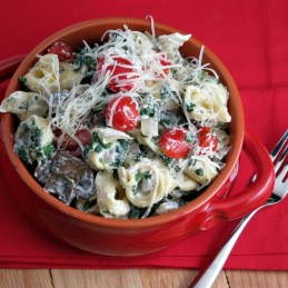 Tortellini Primavera - a quick and healthy pasta dish made on the lighter side!