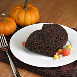 Chocolate Pumpkin Bundt Cake is a rich, moist chocolate cake made with pumpkin and a hint of spice. Pumpkin replaces much of the fat in the cake that is made on the lighter side!