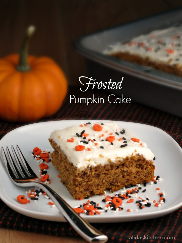 Frosted Pumpkin Cake