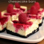 Raspberry Swirl Cheesecake Bars #SundaySupper