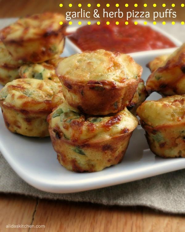 Garlic and Herb Pizza Puffs   alidaskitchen.com