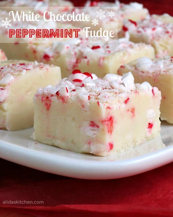 White Chocolate Peppermint Fudge   alidaskitchen.com