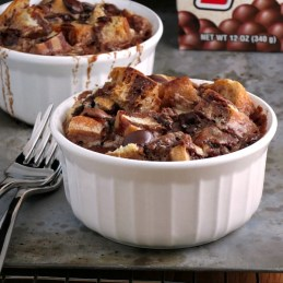 Chocolate Malt Bread Pudding for Two | alidaskitchen.com