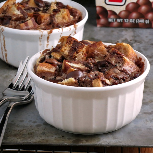 Chocolate Malt Bread Pudding | alidaskitchen.com
