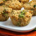 Broccoli Cheddar Quinoa Bites | alidaskitchen.com #recipes #glutenfree #EatA2ZRecipeChallenge.