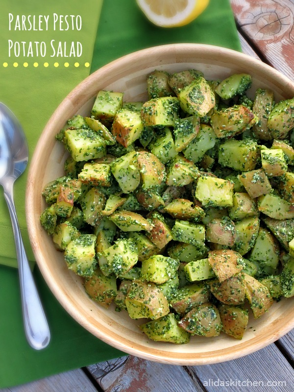 Parsley Pesto Potato Salad
