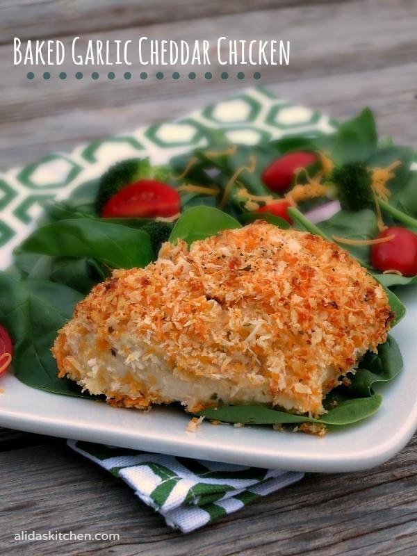 Baked Garlic Cheddar Chicken | alidaskitchen.com