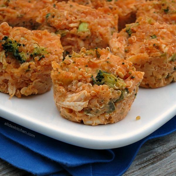 Buffalo Chicken Quinoa Bites Sundaysupper My Site