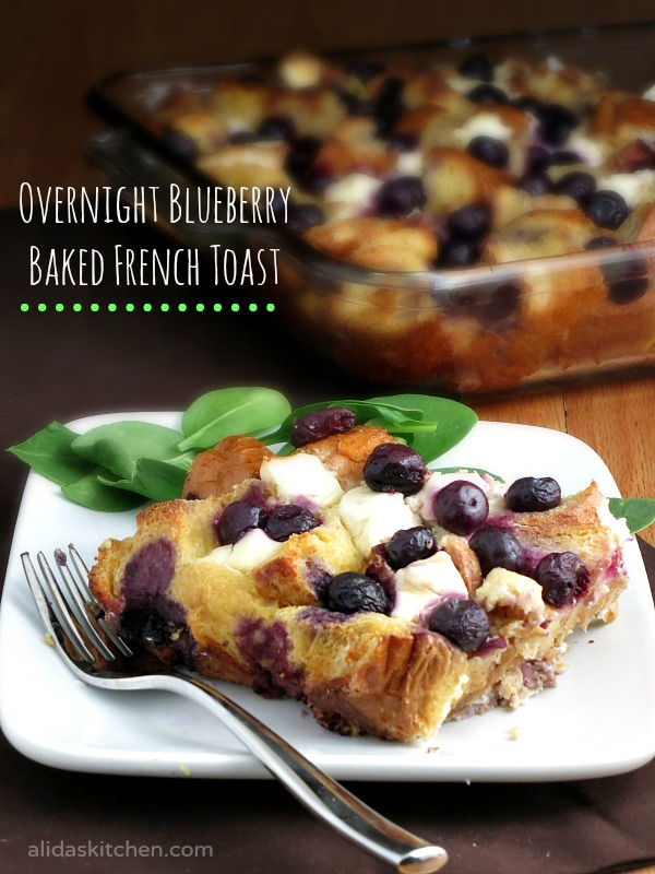 Overnight Blueberry Baked French Toast | alidaskitchen.com