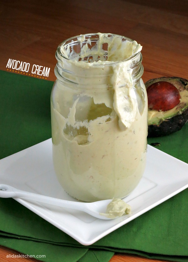 Avocado Cream | alidaskitchen.com