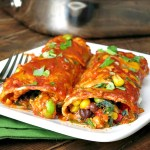 Cheesy Vegetable Enchiladas #SundaySupper