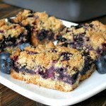 Blueberry Crumb Bars #SundaySupper