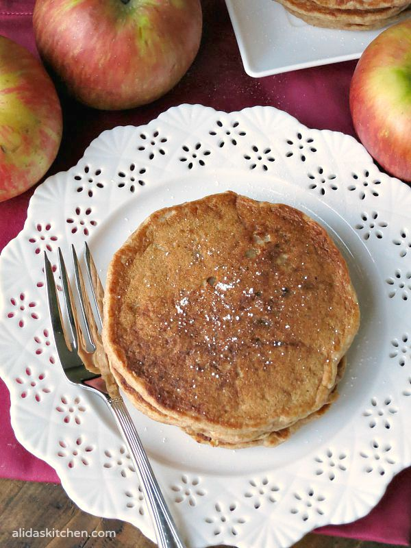 Apple Buttermilk Pancakes | alidaskitchen.com