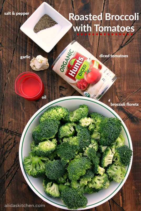 Oven Roasted Broccoli with Tomatoes | alidaskitchen.com