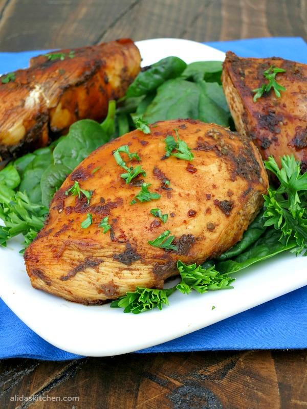 Grilled Honey Balsamic Chicken | alidaksitchen.com