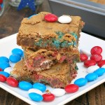 Patriotic M&M Cookie Bars #SundaySupper