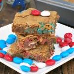 Patriotic M&M Cookie Bars #SundaySupper