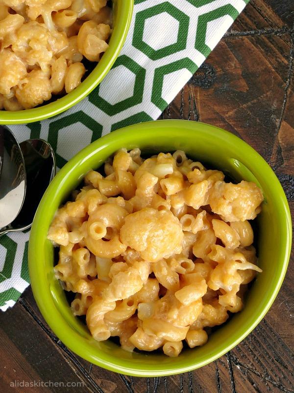 Stove Top Cauliflower Mac and Cheese   alidaskitchen.com