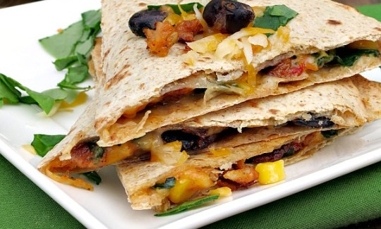 Spicy Black Bean Quesadillas