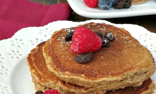Honey Oatmeal Raisin Pancakes