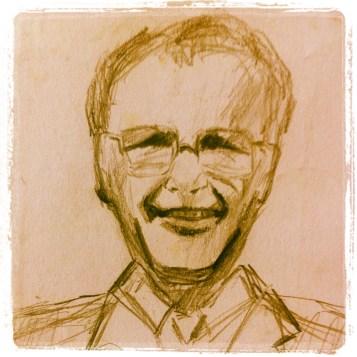 A sketch of my dad, David Frank William Davies