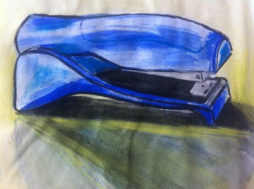 Every Day in May 2014 #16 Draw a stapler - A blue stapler