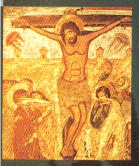 UFO's in Crucifixion Painting