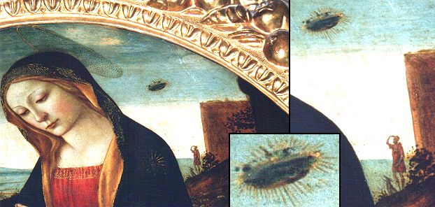 UFO in the The Madonna with Saint Giovannino