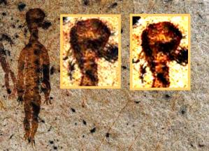 10,000-year-old rock paintings depicting aliens and UFOs found in Chhattisgarh 1