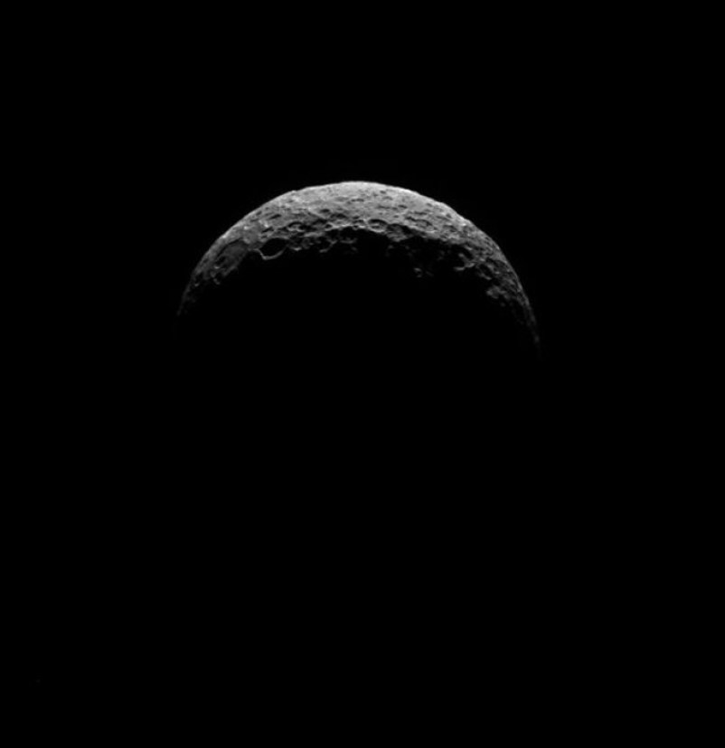 The spots were not seen in dawn image of Ceres' north pole