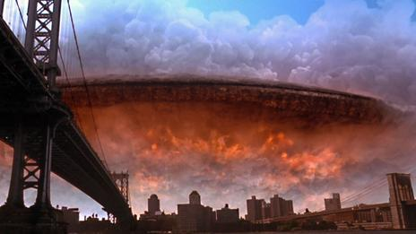 The aliens in Independence Day (1996) did not come in peace (20th Century Fox)