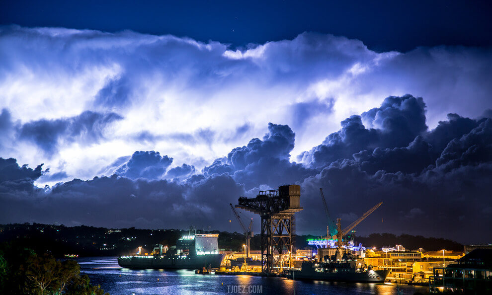 What about these wonderfully wild skies above Woolloomooloo, NSW?