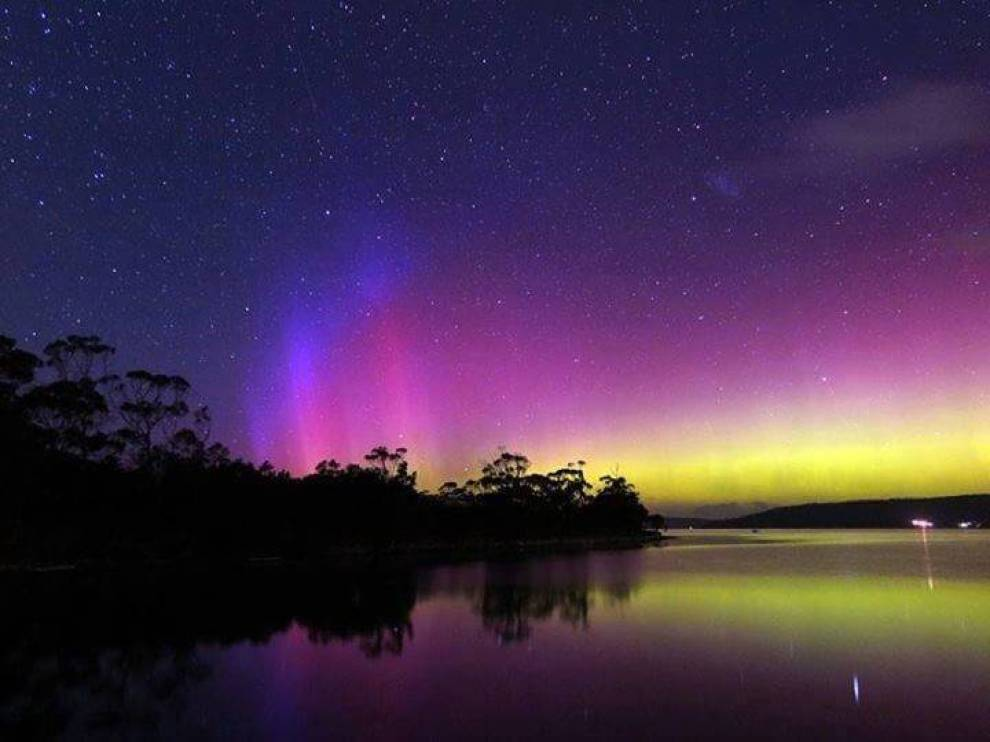 The Southern lights over Howden, Tasmania?