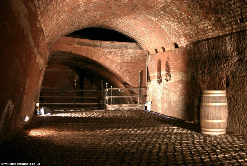 The tunnels stretch on for miles, creating a vast subterranean labyrinth of twisting routes and caverns