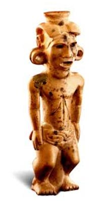 The Adena Pipe. His head and torso are large in comparison to his legs, suggesting to some that he represents a dwarf.
