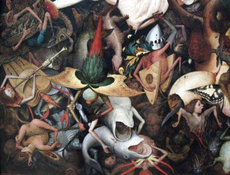 The Fall of the Rebel Angels who created 'the Halls of Amenti' or hell.