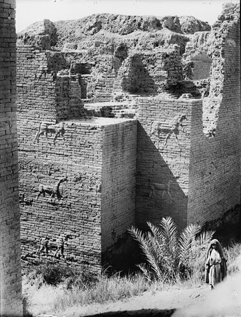 1932 Photograph of the Ishtar Gate from the Library of Congress Prints and Photographs Division Washington, D.C.