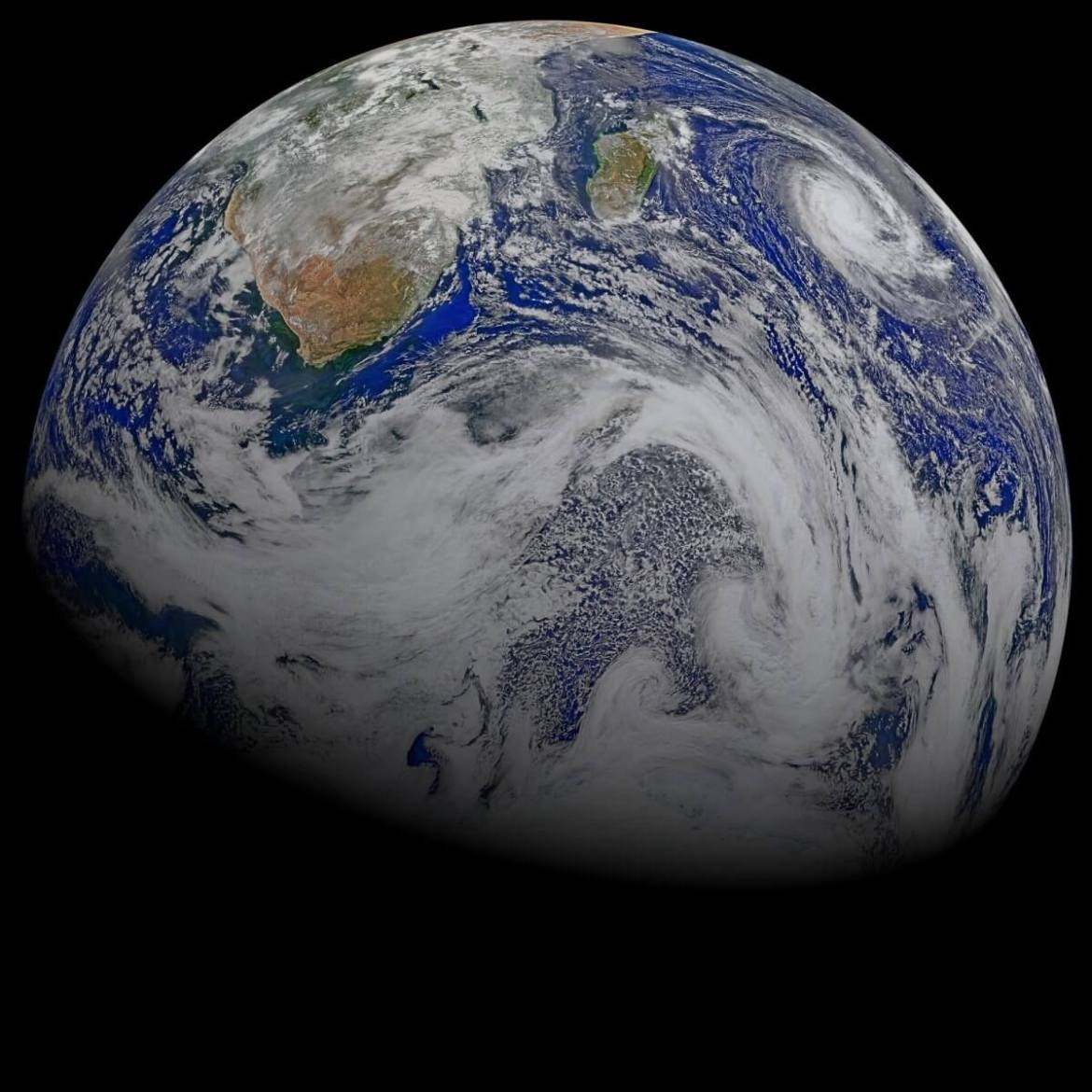A few rare satellites enjoy a full view of Earth from thousands or even a million miles away.
