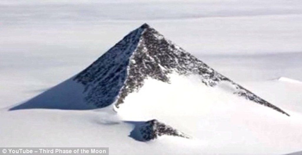 A strange theory claiming that there is a mysterious pyramid in the Antarctic emerged last year. Conspiracy theorists posted a video on YouTube, in which they claimed US Secretary of State, John Kerry, visited Antarctica last week to visit an 'alien base' within the pyramid