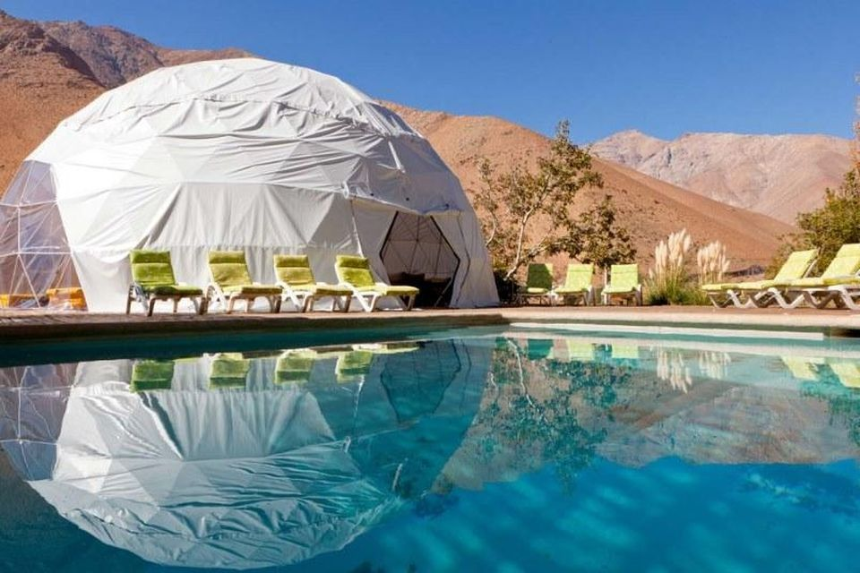 Poolside dome at Elqui Domos Hotel
